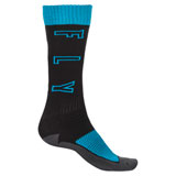 Fly Racing Youth Thick MX Socks Black/Blue/Grey
