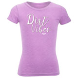 Fly Racing Girl's Youth Dirt Vibes T-Shirt Lilac
