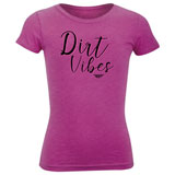 Fly Racing Girl's Youth Dirt Vibes T-Shirt Raspberry