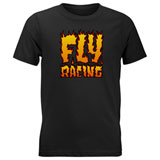 Fly Racing Youth Fire T-Shirt Black
