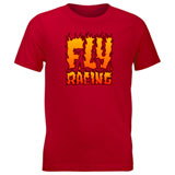 Fly Racing Youth Fire T-Shirt Red