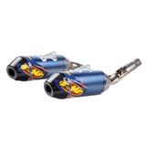 FMF Factory-4.1 RCT Dual Anodized Titanium Silencers with Carbon End Cap