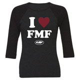 FMF Women's Adore 3/4 Sleeve Raglan T-Shirt Black