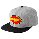 FMF Checkered Past Snapback Hat Heather Grey