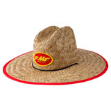 FMF Checkered Past Straw Hat Natural