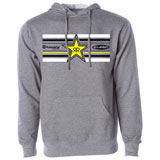 FMF Husqvarna/Rock Star Star Hooded Sweatshirt Heather Grey