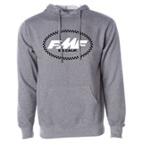 FMF RM Legacy Checks Hooded Sweatshirt Gun Metal Heather