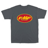 FMF Checkered Past T-Shirt Charcoal