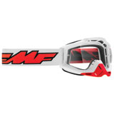 FMF PowerBomb Goggle Rocket White Frame/Clear Lens