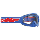 FMF PowerBomb Enduro Goggle Rocket Blue Frame/Clear Lens