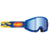 FMF PowerCore Goggle Flame Navy Frame/Blue Mirror Lens