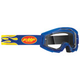 FMF PowerCore Goggle Flame Navy Frame/Clear Lens