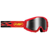 FMF PowerCore Sand Goggle Flame Red Frame/Smoke Lens