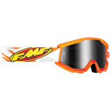 FMF Youth PowerCore Goggle Assault Grey Frame/Silver Mirror Lens