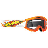 FMF Youth PowerCore Goggle Assault Grey Frame/Clear Lens