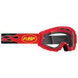 FMF Youth PowerCore Goggle Flame Red Frame/Clear Lens