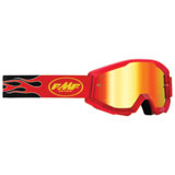 FMF Youth PowerCore Goggle Flame Red Frame/Red Mirror Lens
