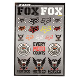 Fox Racing Covert Sticker Sheet