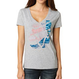 Fox Racing Ballistic Ladies V-Neck T-Shirt