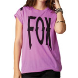 Fox Racing Lock Down Ladies Crew Roll T-Shirt