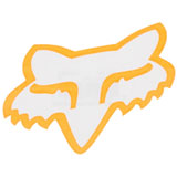 Fox Racing Head TDC Sticker  Flo Orange