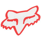 Fox Racing Head TDC Sticker  Red