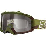 Fox Racing Youth Air Space Goggle Green Camo Frame/Grey Lens