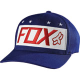 Fox Racing Red White and True Flex Fit Hat