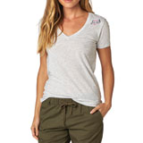 Fox Racing Snapped Ladies V-Neck T-Shirt