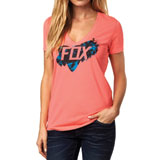 Fox Racing Blasting Ladies V-Neck T-Shirt