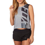 Fox Racing Women's Red, White and True Muscle Crop Tank