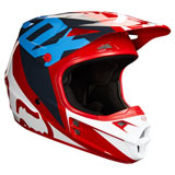 Fox Racing V1 Race Helmet Red