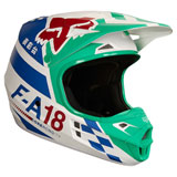 Fox Racing V1 Sayak Helmet Green