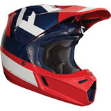 Fox Racing V3 Preest MIPS Helmet Navy/Red