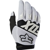 Fox Racing Dirtpaw Race Gloves White