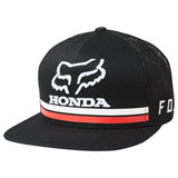 Fox Racing Honda Snapback Hat 19 Black