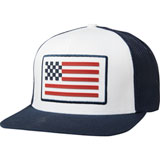 Fox Racing Patriot Snapback Hat Navy/White