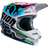 Fox Racing Youth V1 Czar Helmet Light Grey