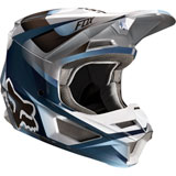 Fox Racing Youth V1 Motif Helmet Blue/Grey