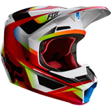 Fox Racing V1 Motif Helmet Red/White