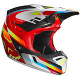 Fox Racing V3 Motif MIPS Helmet Red/Yellow