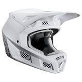 Fox Racing V3 Solids Helmet White/Silver