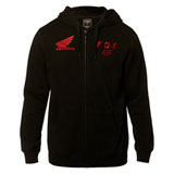Fox Racing Honda Zip-Up Hooded Sweatshirt 19 Black