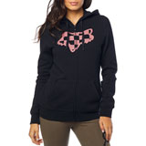 Fox Racing Women's Check Head Zip-Up Hooded Sweatshirt
