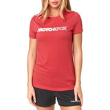 Fox Racing Women's Baldwin Crew T-Shirt Rio Red