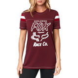 Fox Racing Women's Rally Point T-Shirt Cranberry