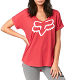 Fox Racing Women's Responded V-Neck T-Shirt Rio Red