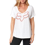 Fox Racing Women's Responded V-Neck T-Shirt White