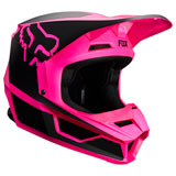 Fox Racing Youth V1 PRZM Helmet Black/Pink