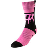 Fox Racing Girl's Youth MX Mata Drip Socks Black/Pink